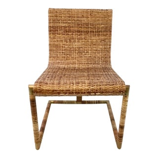 Mid-Century Modern Style Henredon Cane Chair For Sale