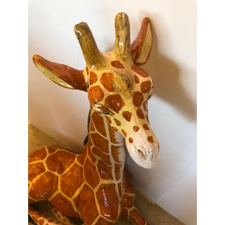 Italian Terracotta Hand Crafted Giraffe Sculpture Preview