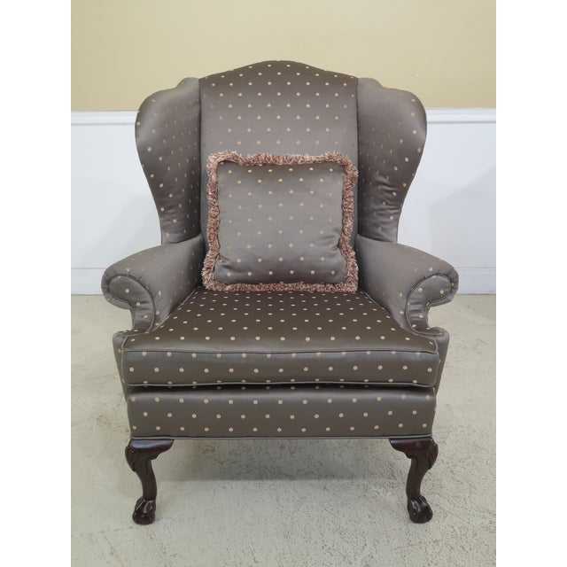 Ball and claw feet with quality construction. Large impressive chairs with 18th century design. Chippendale style. Shell...