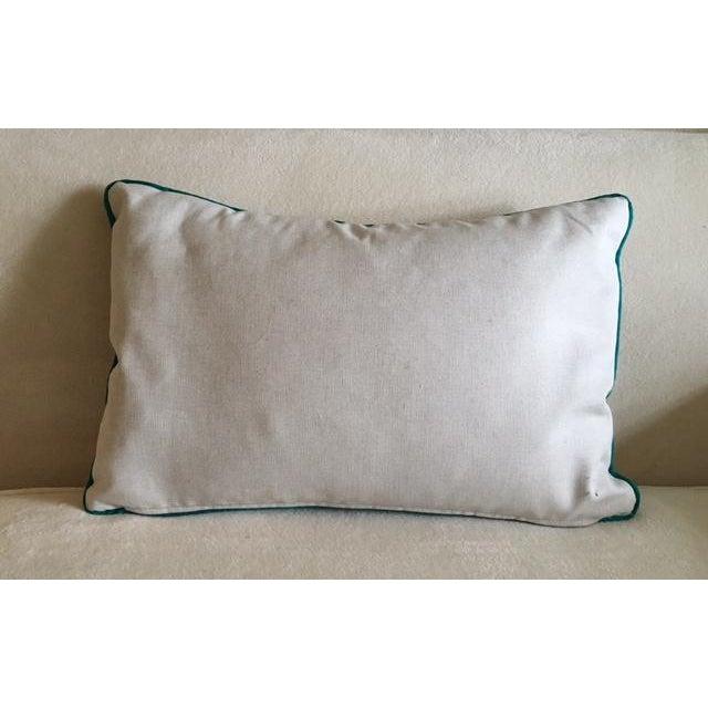 Custom Turquoise Mod Geometric Kidney Pillow - Image 5 of 6