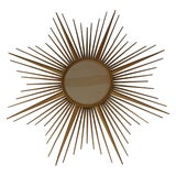 Image of French Vintage Chaty Sunburst Mirror For Sale
