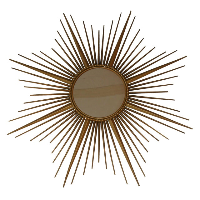 French Vintage Chaty Sunburst Mirror For Sale