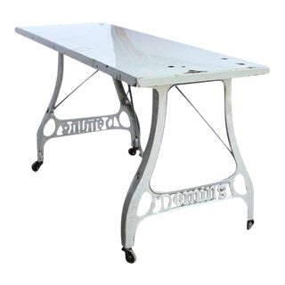 Antique Industrial Folding Table For Sale