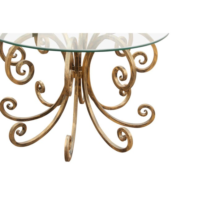 1990s 1990s Boho Chic Gold Scroll Cast Iron End Tables - a Pair For Sale - Image 5 of 6