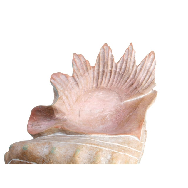 Handcrafted Wooden Seashell Sculpture - Image 7 of 8