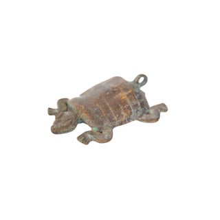 Vintage African Oxidized Copper Turtle For Sale