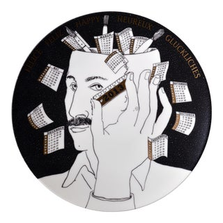 Barnaba Fornasetti Calendar Plate for 2013 With Piero Fornasetti Self Portrait, #518 of 700 For Sale