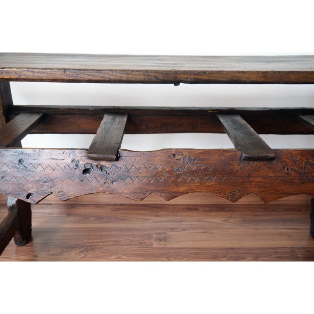 18th Spanish Refectory Table with Three Drawers - Image 5 of 8