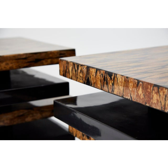 1990s Contemporary Stacked 2-Part Coffee Table For Sale In Los Angeles - Image 6 of 11