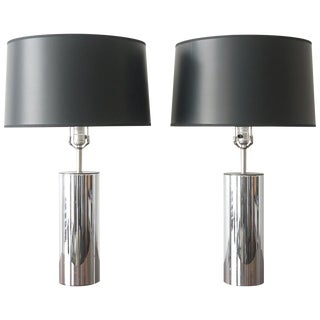 George Kovacs Chrome Lamps - a Pair For Sale