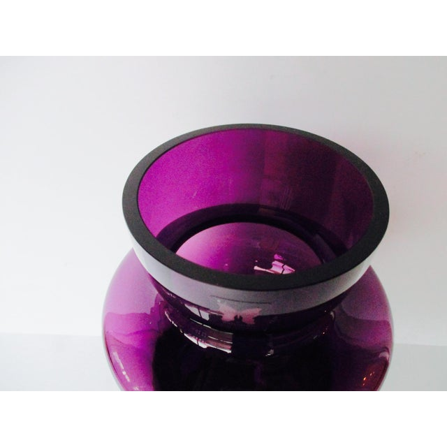 Waterford Marquis Modernist Purple Vase - Image 6 of 11