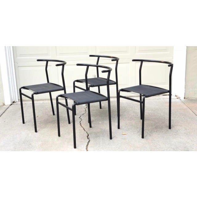 1980s Vintage Modern Philippe Starck Cafe Chairs- Set of 4 For Sale - Image 11 of 11