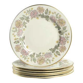 Paragon Chrysanthemum Salad Plate Set/6 For Sale