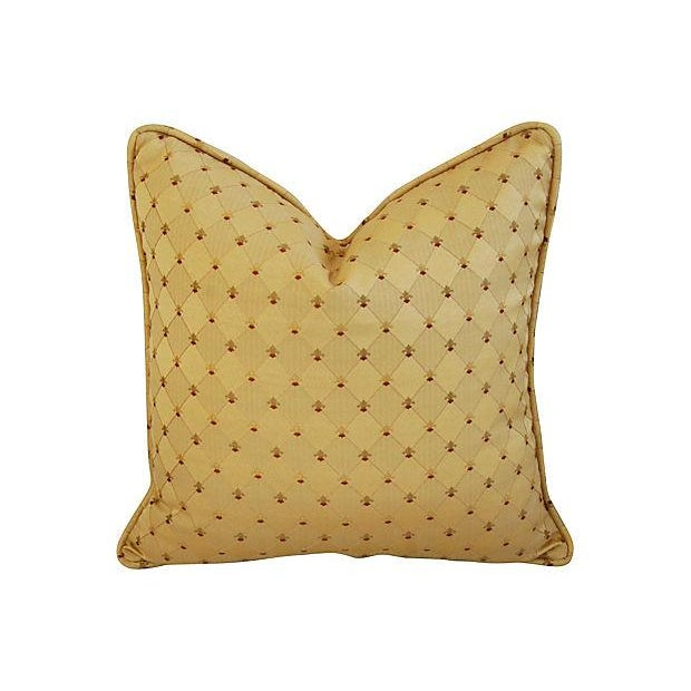 Custom French Golden Fleur-De-Lis Pillows - A Pair - Image 2 of 7