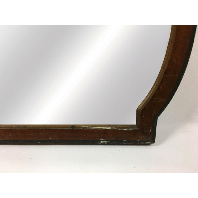 20th Century Art Deco Wooden Manor Mirror For Sale - Image 4 of 6