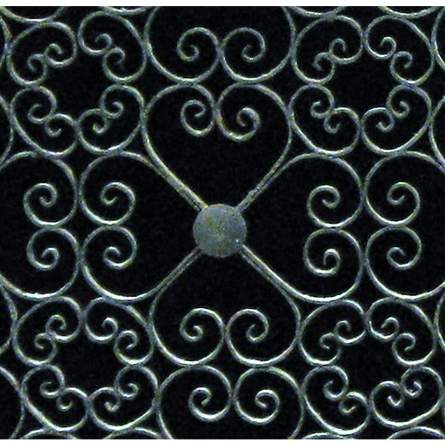 Vintage Wrought Iron Decorative Fireplace Screen For Sale - Image 4 of 5