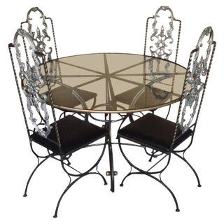 20th Century French Steel Dining Set - 5 Pieces For Sale
