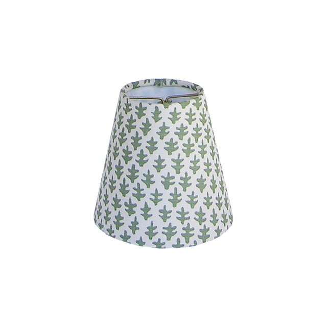 Fern Green Sconce or Chandelier Shade For Sale