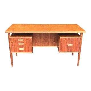 1960s Danish Modern MobelFabrik Teak Floating Top Desk For Sale