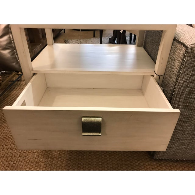 Metal Transitional Century Furniture New Haven One Drawer Side Table For Sale - Image 7 of 9
