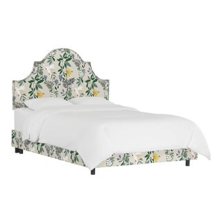 Queen Bed, Belize Chinoiserie Cream For Sale
