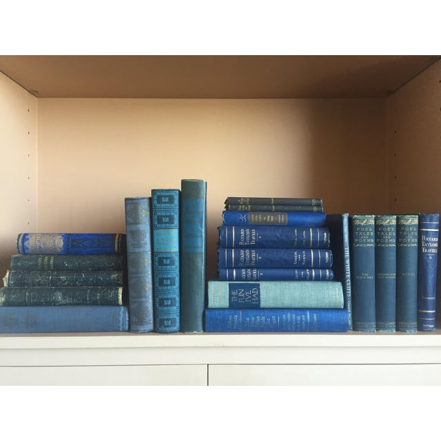 Collection of Blue Antique Books - Set of 21 - Image 4 of 4