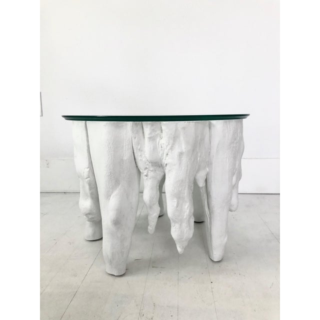 White Bruailist White Cypress Root Sculpted Side Table For Sale - Image 8 of 8