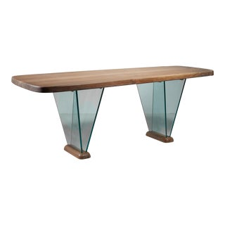 Robert Sentou Desk with Glass Legs For Sale