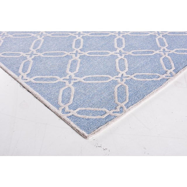 Contemporary Stark Studio Rugs Contemporary Linen Soumak Rug - 6′ × 8′10″ For Sale - Image 3 of 5
