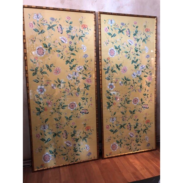 1970s 1970s Vintage Framed Gracie Wallpaper Panels - A Pair For Sale - Image 5 of 13