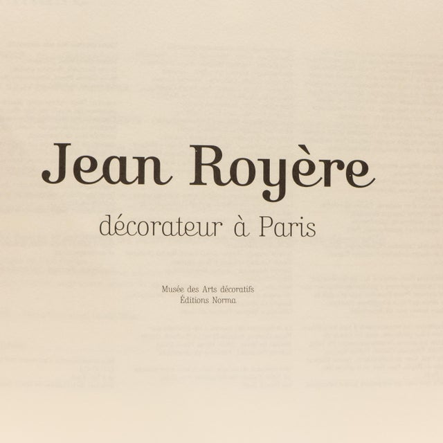 French Jean Royere, Décorateur a Paris Book For Sale - Image 3 of 9