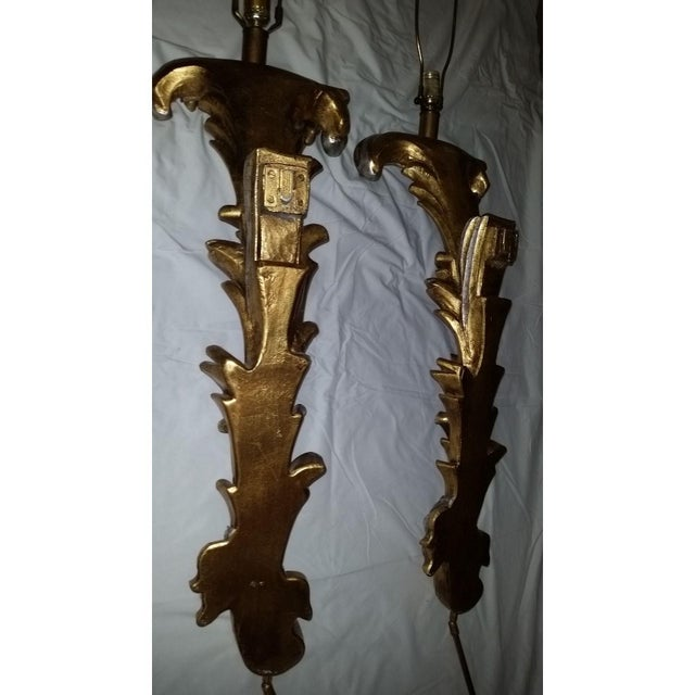 Regency Hollywood Gold Silver Wall Sconce Lamps - a Pair Last Call For Sale In Cleveland - Image 6 of 12