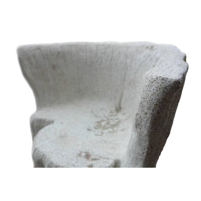 """Zachary A. Design Natural Concrete Finish Cast Resin """"Acacia"""" Chair For Sale In Chicago - Image 6 of 8"""