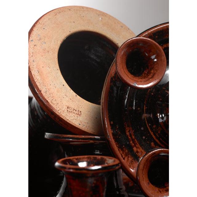 1960s Helle Allpass ceramic candelabra, Denmark, 1960s For Sale - Image 5 of 5