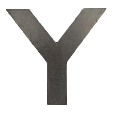 Stainless Steel Letter Y For Sale