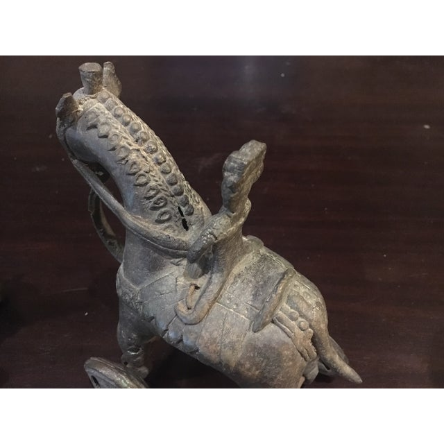Antique Indian Bronze Horses - a Pair For Sale - Image 4 of 11