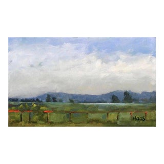 """Cottage Style Oil Painting, """"After the Rain, Rush Ranch"""" For Sale"""