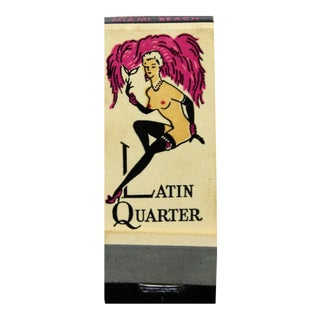 The Latin Quarter Nightclub Matchbook For Sale