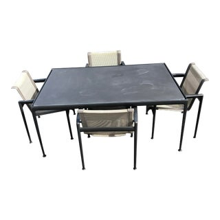 Knoll 1966 Black Fiberglass Table Dining Set - 5 Pieces For Sale