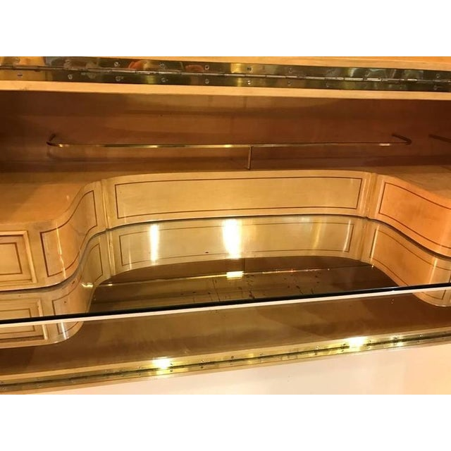 Early 20th Century Jules Leleu Style French Art Deco Dry Bar For Sale - Image 5 of 10