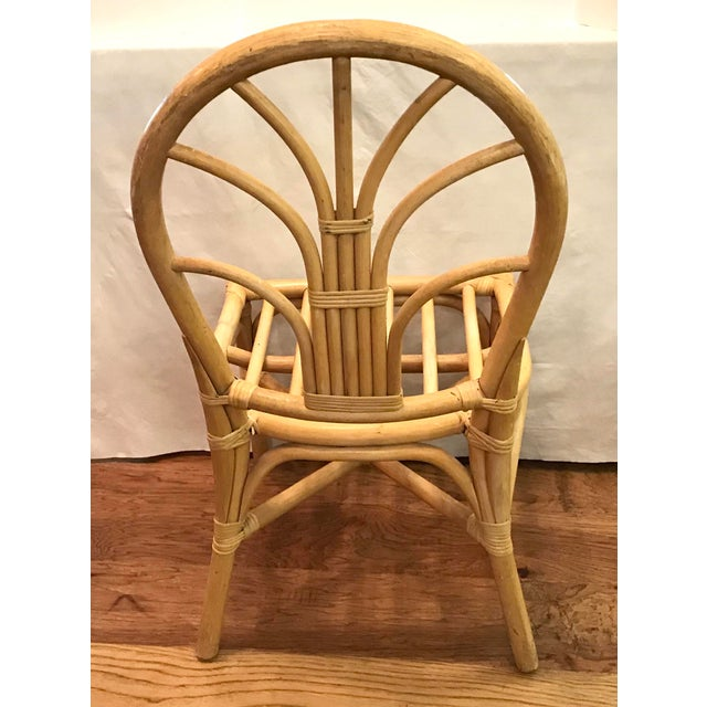Mid 20th Century Vintage Mid Century Bamboo Chair For Sale - Image 5 of 10