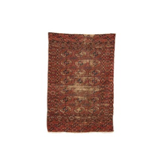 Antique Faded Sarouk Rug - 3′9″ × 5′5″