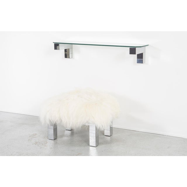 Directional Paul Evans Floating Cityscape Shelf + Stool For Sale - Image 4 of 10