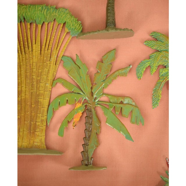 Vintage Mid-Century Hand-Painted Palm Trees - Set of 10 For Sale - Image 4 of 11