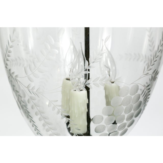 19th Century Georgian Style Bell Jar With Etched Grapes For Sale In San Francisco - Image 6 of 8