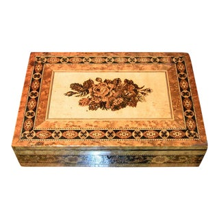 19c Tunbridgeware Table Top Stationary Box - Micro Mosaic For Sale
