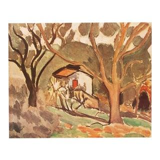 "Henri Matisse Original Swiss ""Southern Landscape"" Lithograph, C. 1940s For Sale"