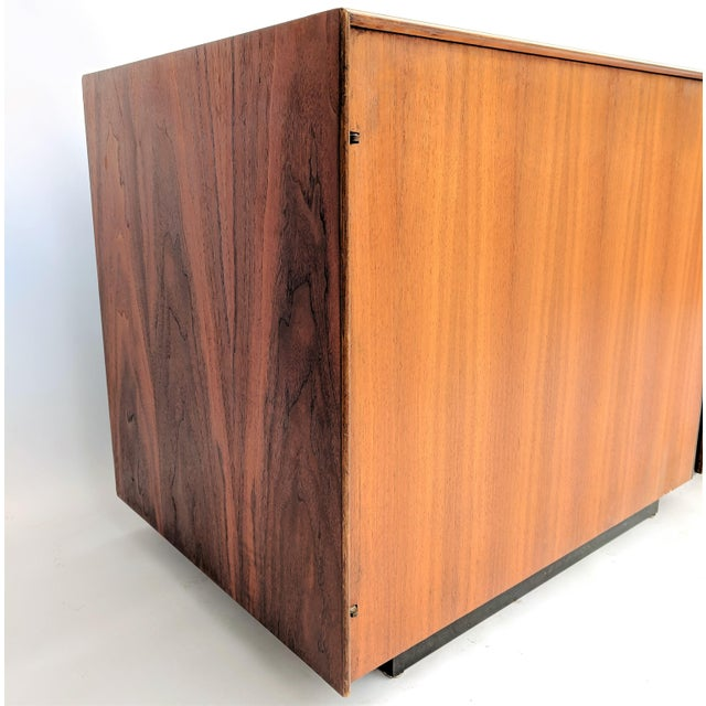 1960s John Kapel for Glenn of California Walnut Nightstands - a Pair For Sale - Image 9 of 12