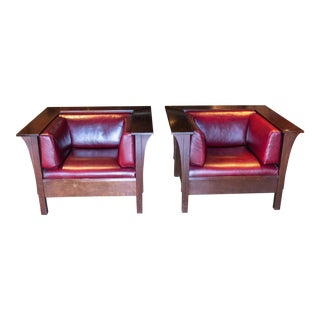 Stickley Prairie Spindle Chairs - a Pair For Sale