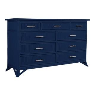 Aruba Nine-Drawer Dresser - Navy Blue For Sale